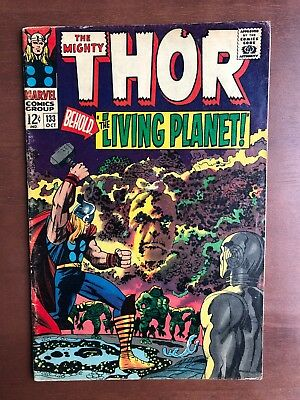 Thor #133 (1966) 7.0 FN Marvel Key Issue Comic Silver Age Jack Kirby Stan Lee