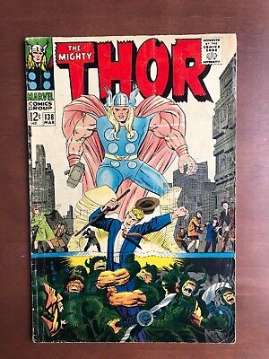 Thor #138 (1967) 6.0 FN Marvel Key Issue Comic Silver Age Stan Lee Jack Kirby
