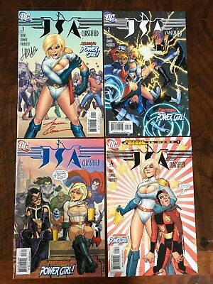 JSA Classified #1-4 NM #1 Signed by Amanda Conner and Jimmy Palmiotti 1 2 3 4