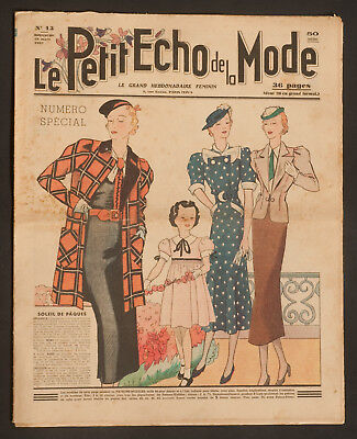 'echo De La Mode' French Vintage Newspaper Easter Issue 28 March 1937
