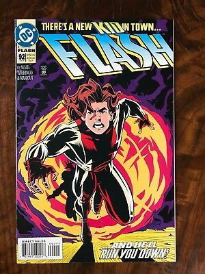 Flash #92 NM 1st appearance of Impulse from Young Justice Mark Waid