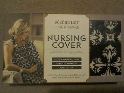 New Bebe au Lait Pure and Simple Nursing / Breastfeeding Cover Blue Pattern