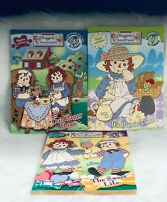 Raggedy Ann and Andy's Activity Book Bundle Sweet Life Picnic Time Happy Home