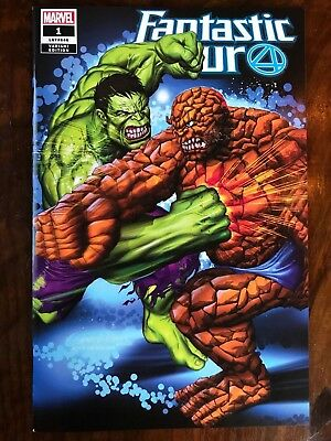 Fantastic Four 1 2018 NM Wanted Comix Greg Horn Variant Hulk vs Thing 112 homage