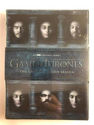 NEW Game of Thrones: The Complete 6th Season (DVD, 2016, 5-Disc Set) Box Set