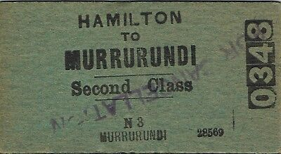 Railway tickets a trip from Hamilton to Murrurundi by the old NSWGR