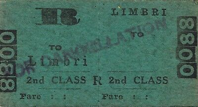Railway tickets a trip from Limbri by the old NSWGR