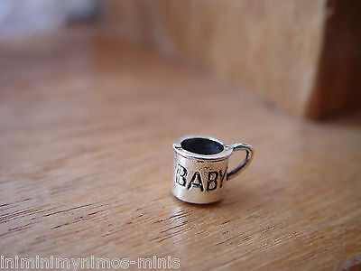 DOLL HOUSE 12th SCALE LOVELY BABIES 'SILVER' MUG !! BID NOW & DON'T MISS OUT....
