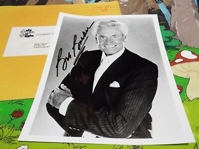 BOB BARKER Price Is Right Host Actor Signed Autograph Photo w/Original Envelope