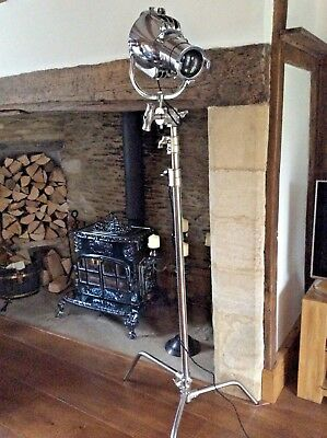 Vintage Theatre Light  Strand Patt 23 With a new Film set Stand  FANTASTIC