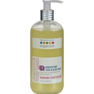 Nature'S Baby Organics Shampoo And Body Wash Lavender Chamomile - 16 Fl Oz x 4