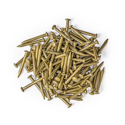 "Chinese Brass Hardware 0.6"" Pure Brass Nails - Bag of 100 810989021039"