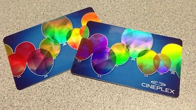Two (2) Cineplex Cards - $30 Total