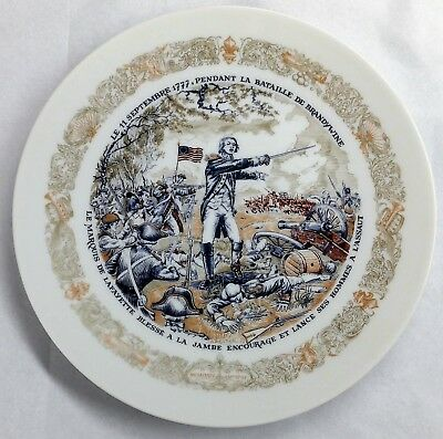1974 D'arceau Limoges Lafayette Legacy Collection Plate Number 4 With COA