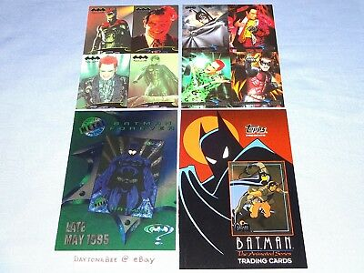 Batman Forever Metal+Fleer Ultra 95+The Animated Series Uncut Promo Cards Sheets