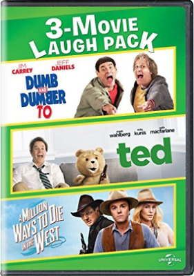 3-Movie Laugh Pack (DVD) Dumb & Dumber To/Ted/A Million Ways to Die in the West