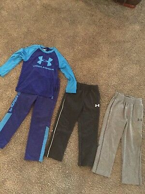 Boys 4 Piece Lot Under Armour Size 5 Clothes