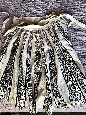 Vintage small women's Hand painted Mexican Cotton 1950's 1960's circle skirt