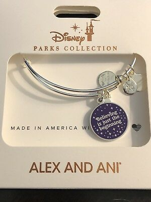 New Disney Silver Alex and Ani  - Believing is Just the Beginning