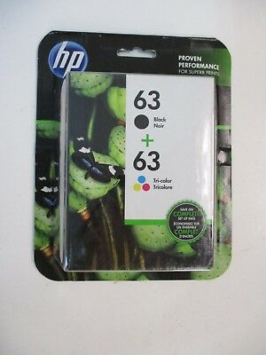 HP 63 + 63 Black and Tri-Color Cartridges