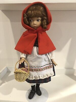 "Dianna Effner - 14"" Little Red Riding Hood Fairy Tale Doll By Knowles 1988"