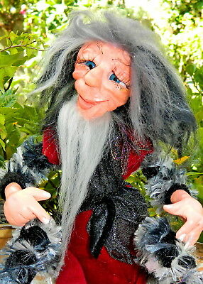 Branbria Old Folk ~  Pixies, Fairies, Witches & Gnomes OOAK Doll Sculpture