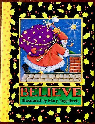 NEW! ~ MARY ENGELBREIT'S ~BELIEVE ~ Christmas Collectable Book W/ Jacket