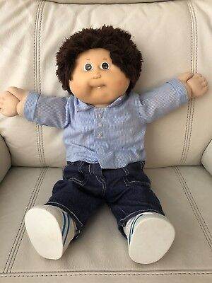 HTF Fuzzy Haired Cabbage Patch Boy (1986), One Tooth, Genuine CPK Outfit & Shoes