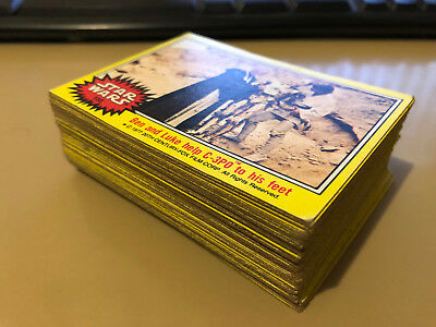 Star Wars - Series 3 (YELLOW) - Complete Trading Card Set (66) 1977 - G/VG+