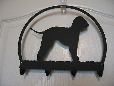 Bedlington Terrier Leash Key Hanger Holder Black Metal * NEW!