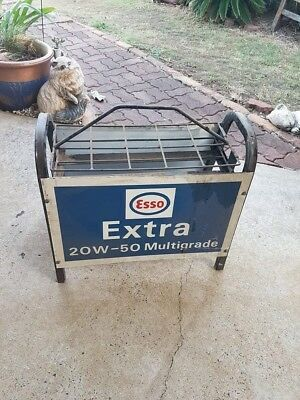 Esso Oil Bottle Rack Enameled Signs