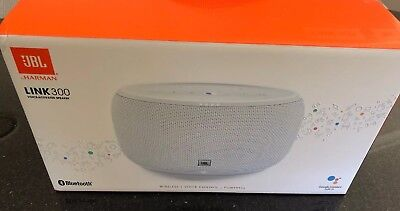 JBL Link 300 Google Voice Activated Speaker - White LIKE NEW GOOGLE HOME Builtin