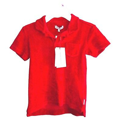 Orlebar Brown Kids Toddler Red Cotton Terry Pool T Shirt Size 6 Years NWT  $95
