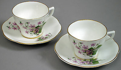 VINTAGE ROSINA BONE CHINA MADE IN ENGLAND TEA CUP & SAUCER #413 no signs of use