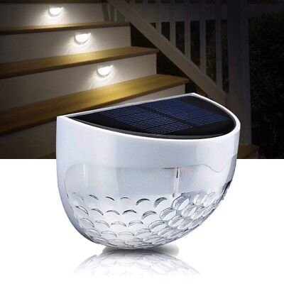 LED Solar Step Stair Light Waterproof Outdoor Lamp Deck Patio Path Fence Lights