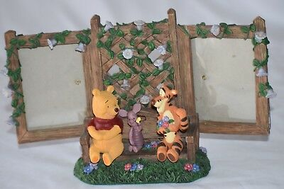 Disney Winnie the pooh and friends piglet Tigger statue double picture frame