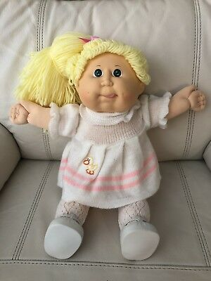 SO CUTE Cabbage Patch Girl Transitional (1989), Tongue, CPK Outfit & Shoes