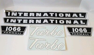 New Hood Decal Set for IH 1066 Tractor W/ Turbo Decals 538089R1 135708C1