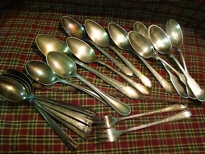 Vintage antique 1847 Rogers Brothers Silverplate Flatware lot