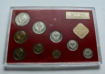 USSR RUSSIA 9 Coins 1980 Proof Set