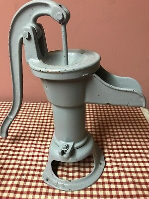 "Vintage Cast Iron Hand Water Cistern Pump~Iowa Mfg. Co Davenport Iowa 17"" Tall"