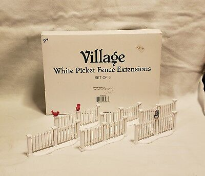 Village White Picket Fence Extensions and Gate (11 pieces)