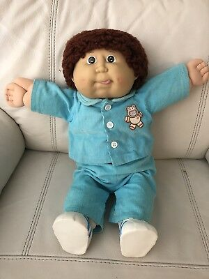 Cabbage Patch Boy (1986) With Sticking Out Tongue In Genuine CPK Outfit & Shoes