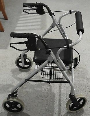 Foldable Mobility Walker adjustable handles, with hand brakes