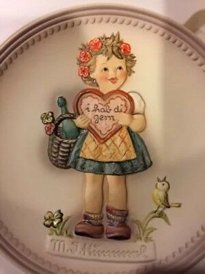 Hummel Valentine Gift Plate Hum 738 New In Box Signed