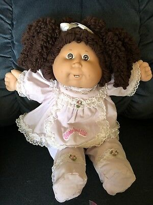 Cabbage Patch POPCORN Girl With Brown Hair, Brown Eyes, Teeth -Awesome Condition