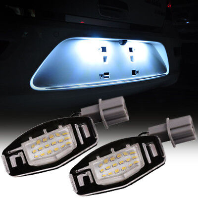 2x 18 LED License Plate Light Direct SMD For Honda Civic Accord Acura TL TSX MDX