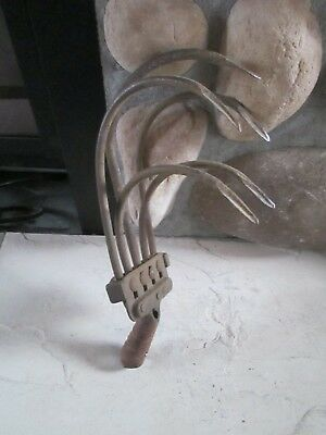 Vintage Collectible 5 Tine Cultivator Hand Plow Blade Attachment