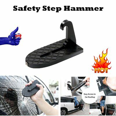 Car Folding Ladder Safety Hammer Door Step Foot Pegs Doorstep Tool Vehicle IL