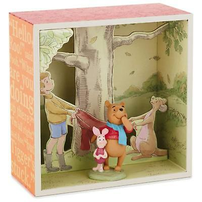 NEW Hallmark Winnie the Pooh Shadow Box At the Base of the Tree Piglet Roo